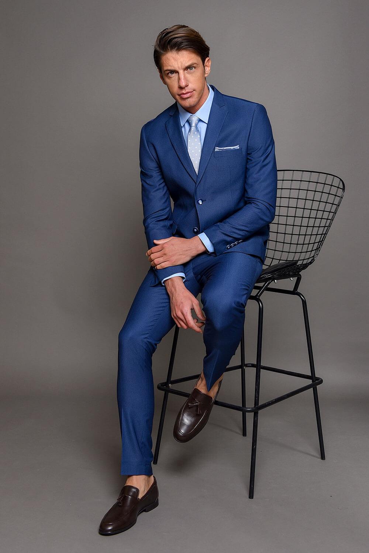 Μπλε Ανδρικό Κοστούμι