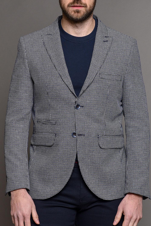 Μπλε Ανδρικό Σακάκι Με Μικροσχέδια 1445-2085