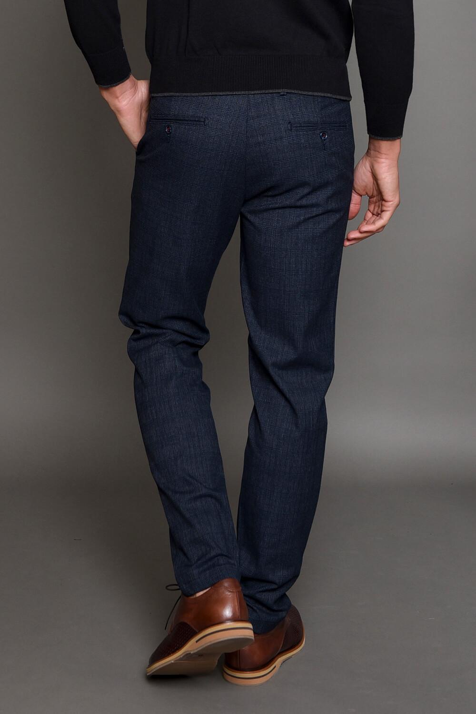 Μπλε Καρό Ανδρικό Παντελόνι
