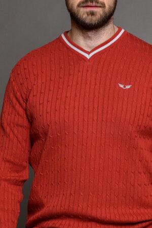 Κόκκινη Πλεκτή Μπλούζα Ανδρική