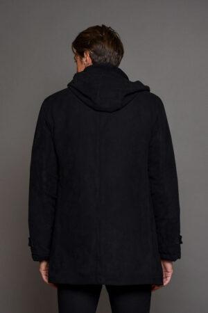 Μαύρο Μπουφάν Ανδρικό Βελουτέ 06-14-140014