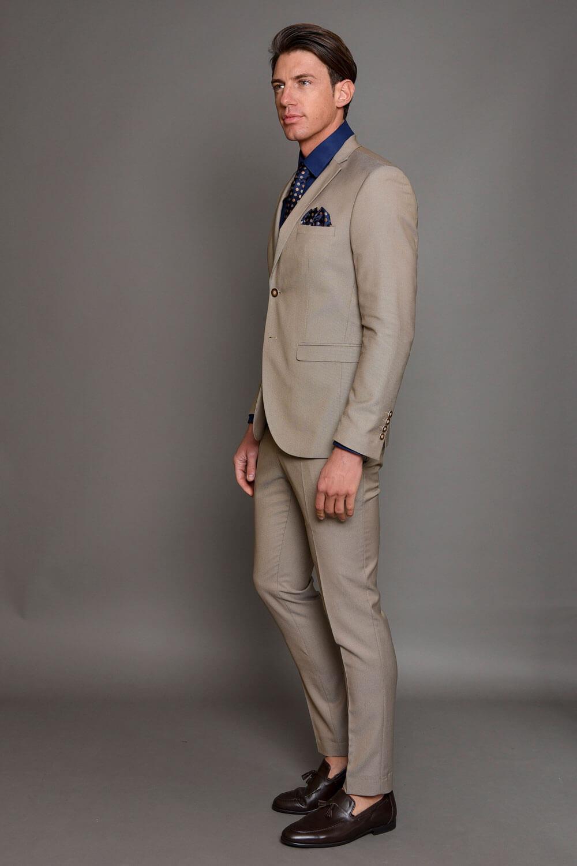 Μπεζ Ανδρικό Κοστούμι