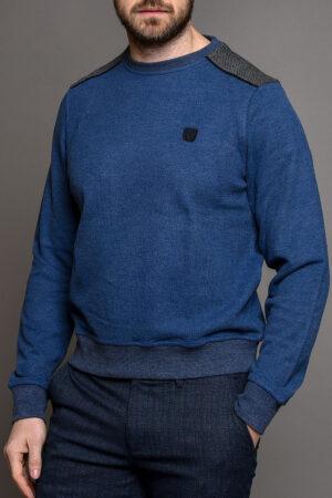Μπλε Ανδρική Πλεκτή Μπλούζα