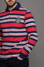 Ανδρική Μπλούζα Πόλο Ριγέ