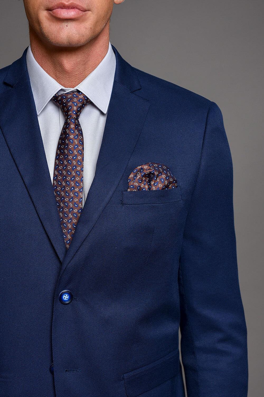 Μπλε Ρουά Ανδρικό Κοστούμι